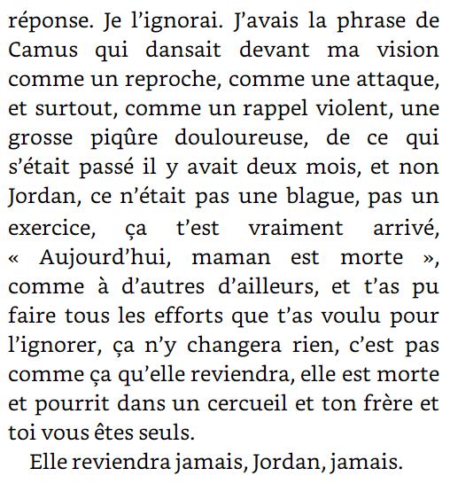 Extrait de Tout revivre de Mélody Gornet