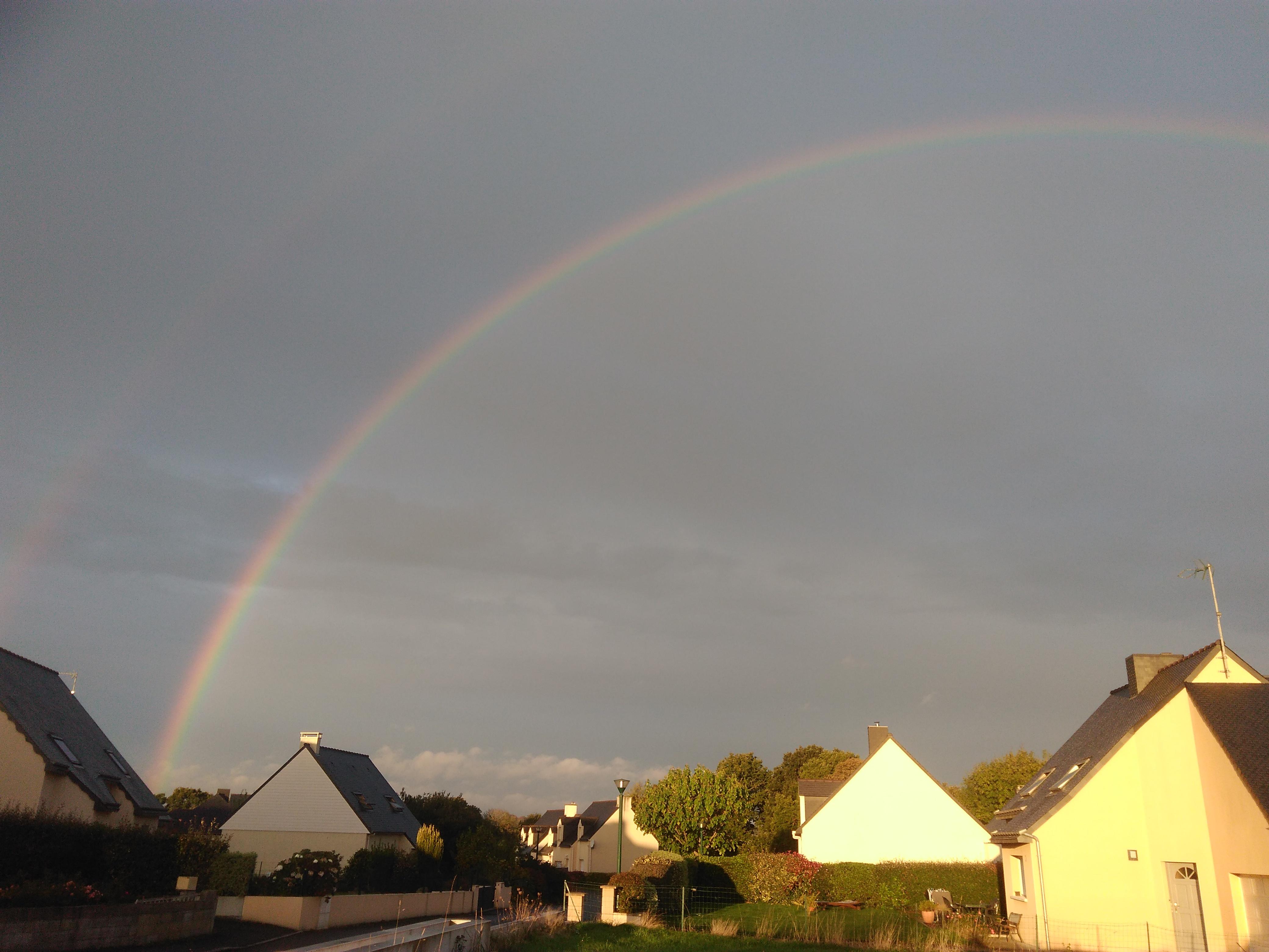 arc en ciel sur Guingamp