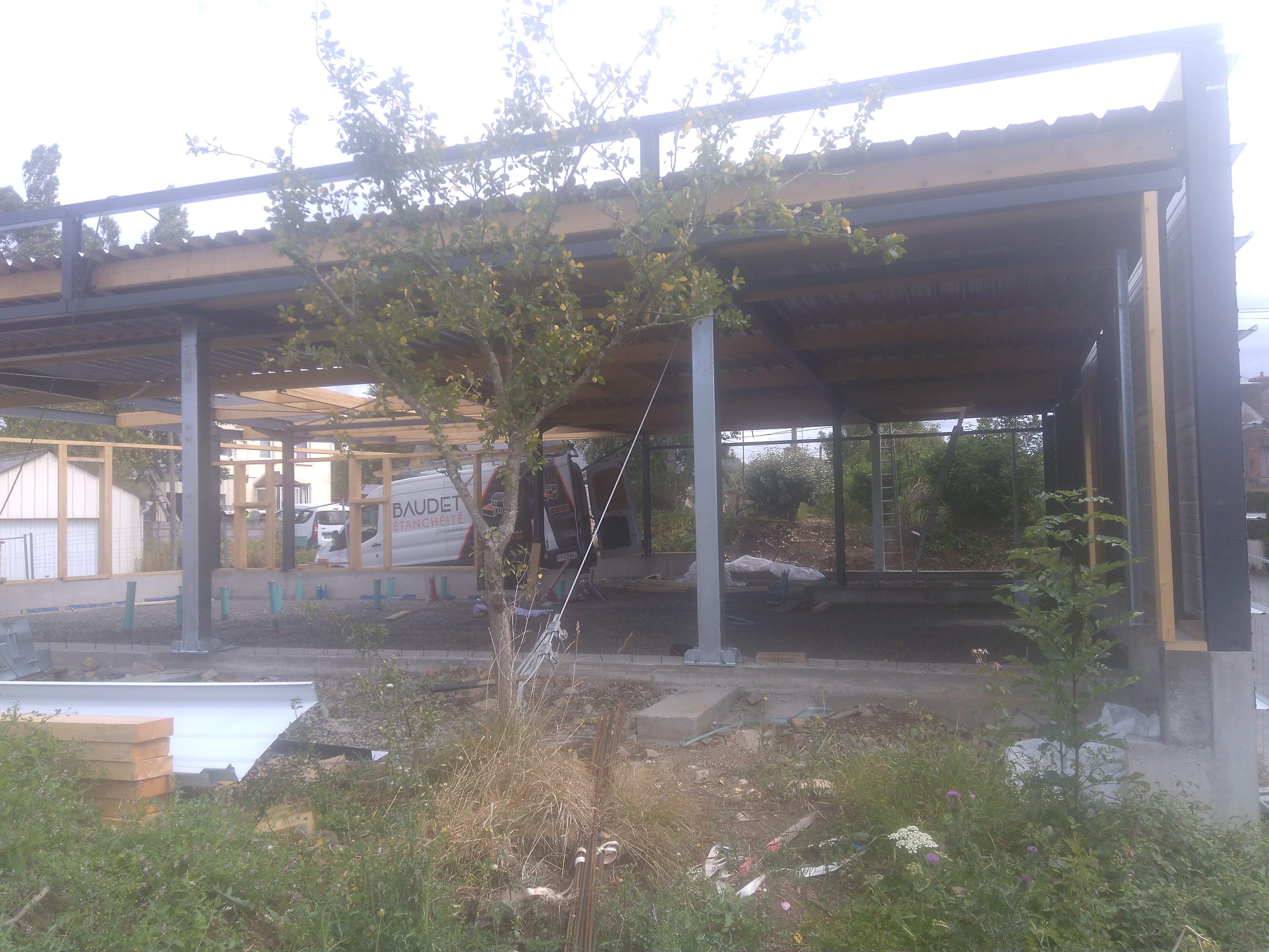 maison structure métallique