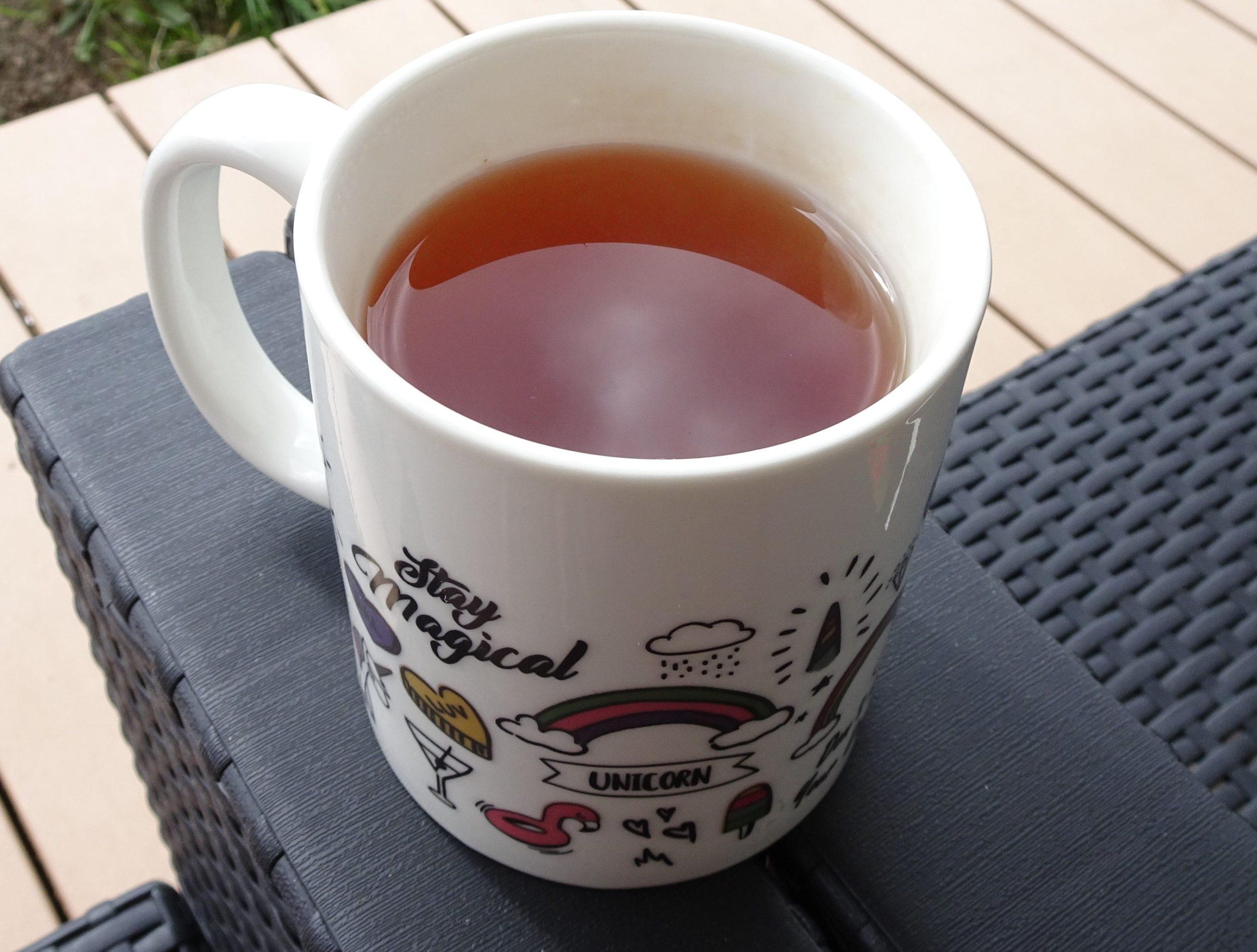 thé noir litchi rose